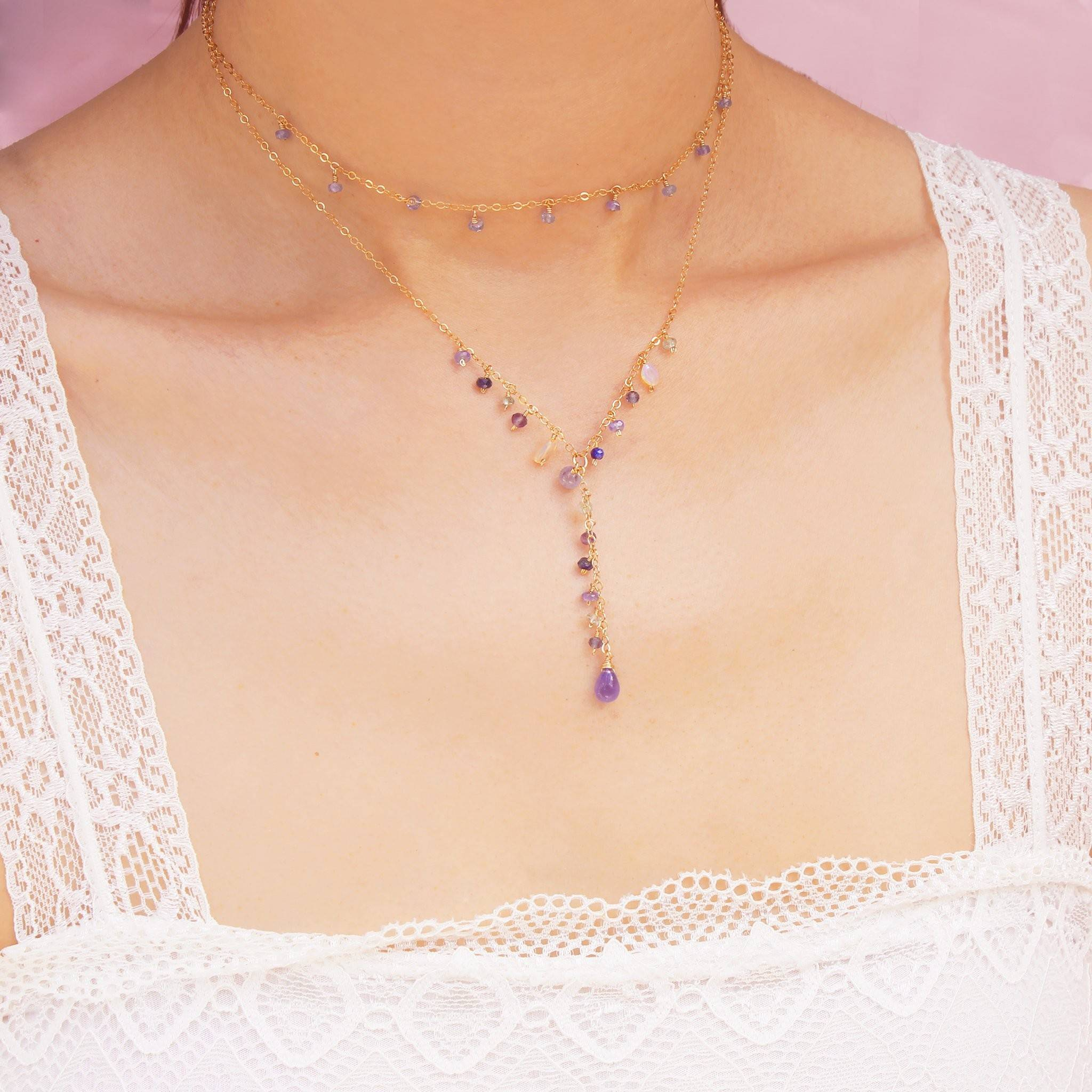 Luxe Treasure Necklace: Lavender