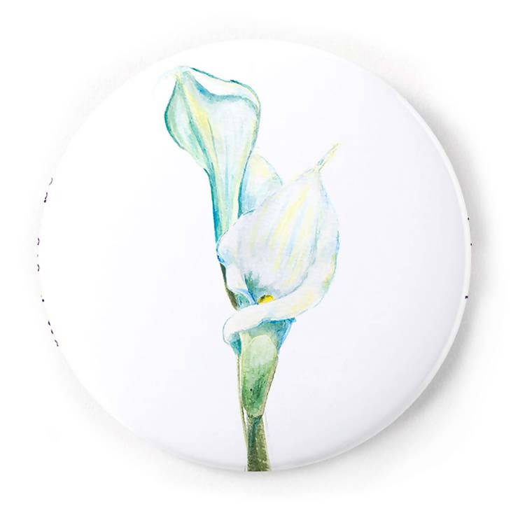 Calla Lily 2 Inch Pin-Back Button