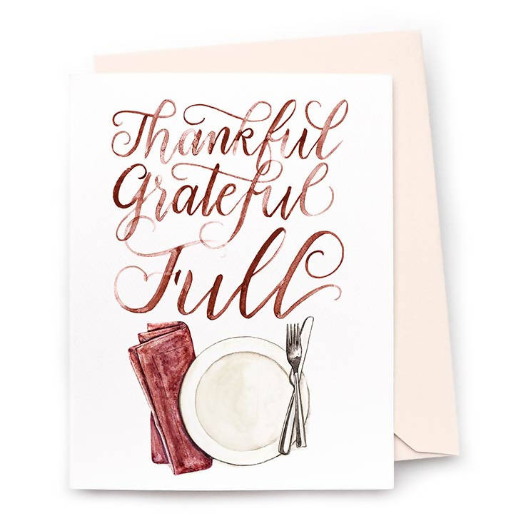 Thankful Grateful Full Cards, Set of 8