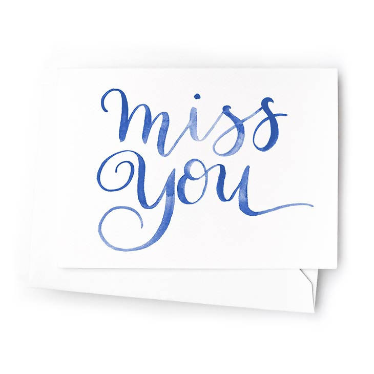 Miss You Mini Cards, Set of 6