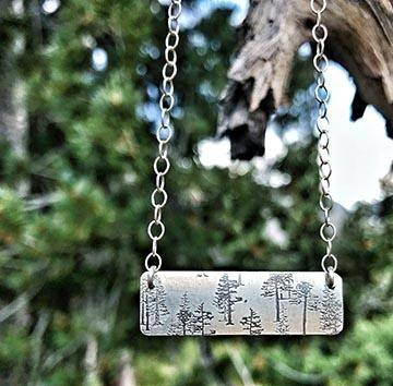 Printed Bar Necklace