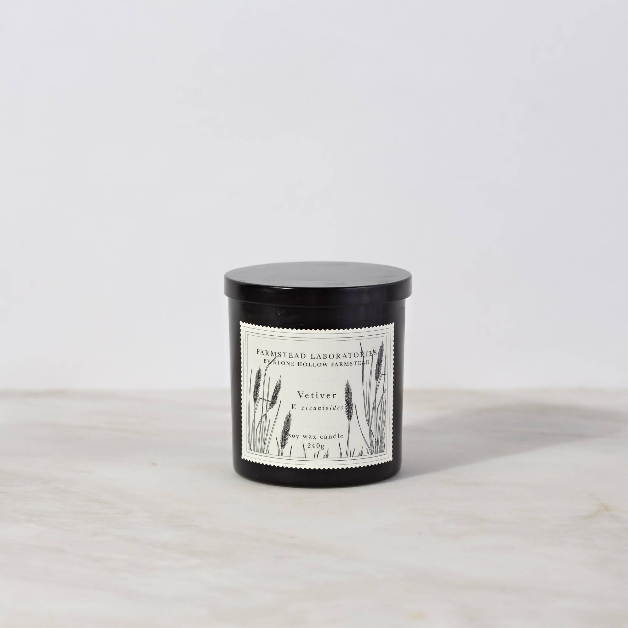 BOTANICAL SOY WAX CANDLE / VETIVER