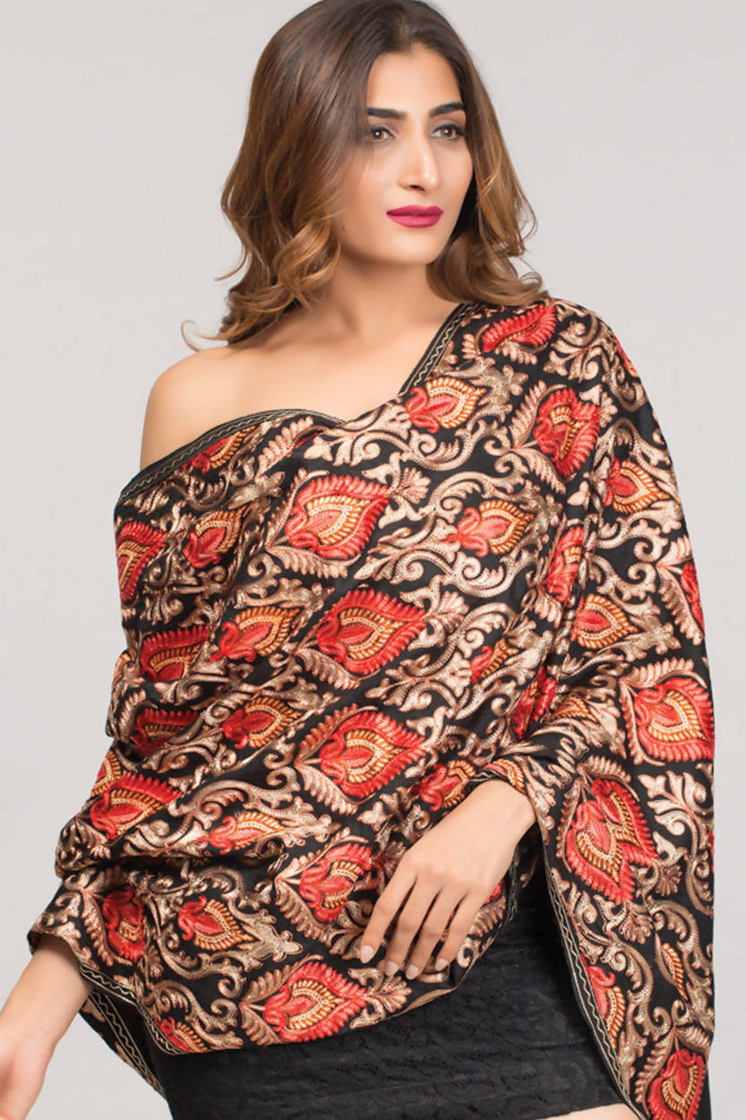 Mandira Embroidered Shawl ST-100