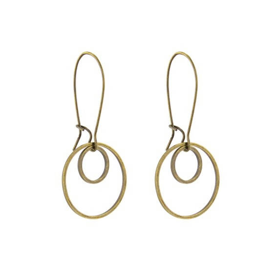 Small Double Circle Earrings