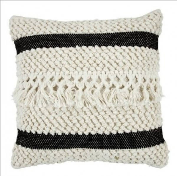 Handwoven Pillow/KC 31 IV BLK 22