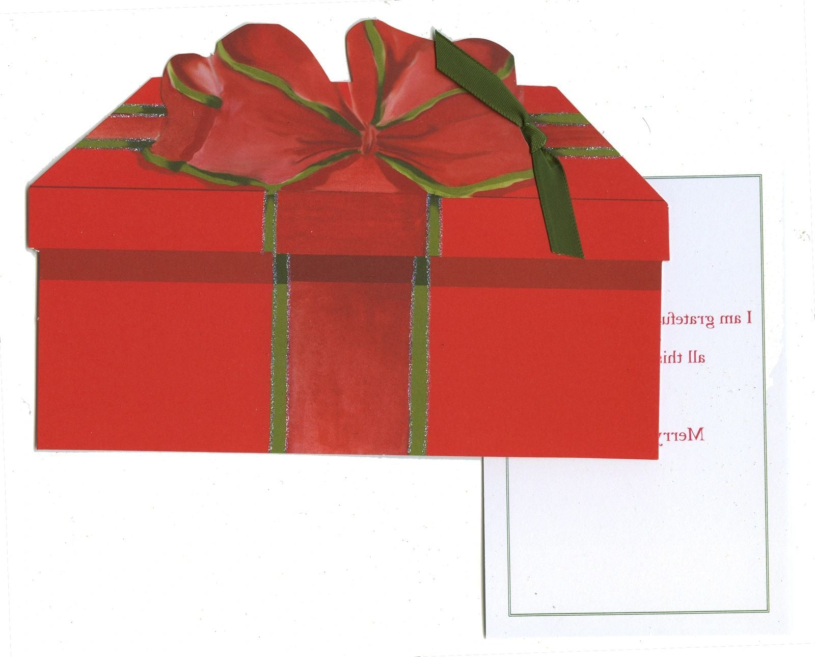 Gift Box Greeting Card - GHW701W