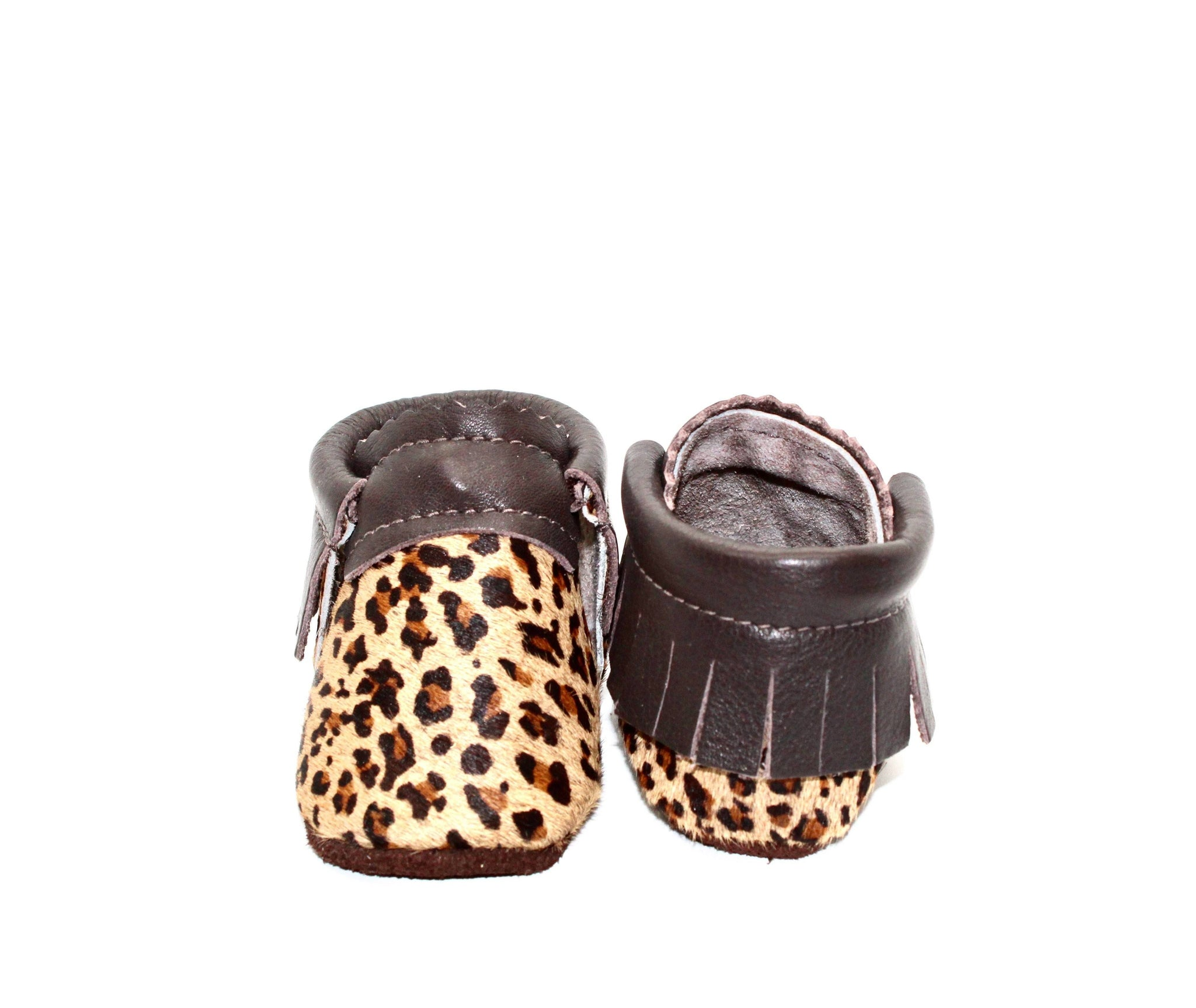 Leopard Mini Moccs - Hair on Hide