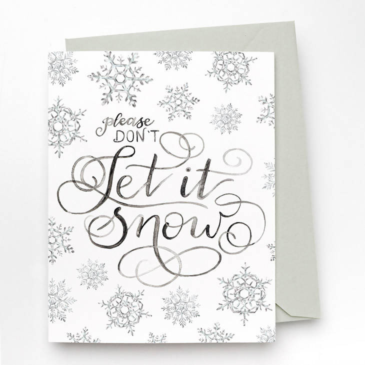 Don't Let It Snow Card