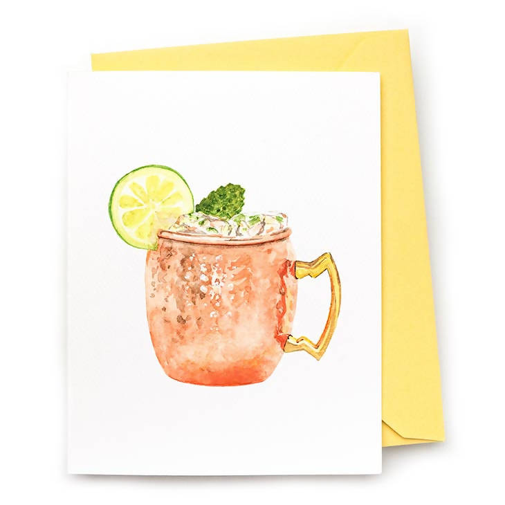 Moscow Mule Note Card, Set of 8