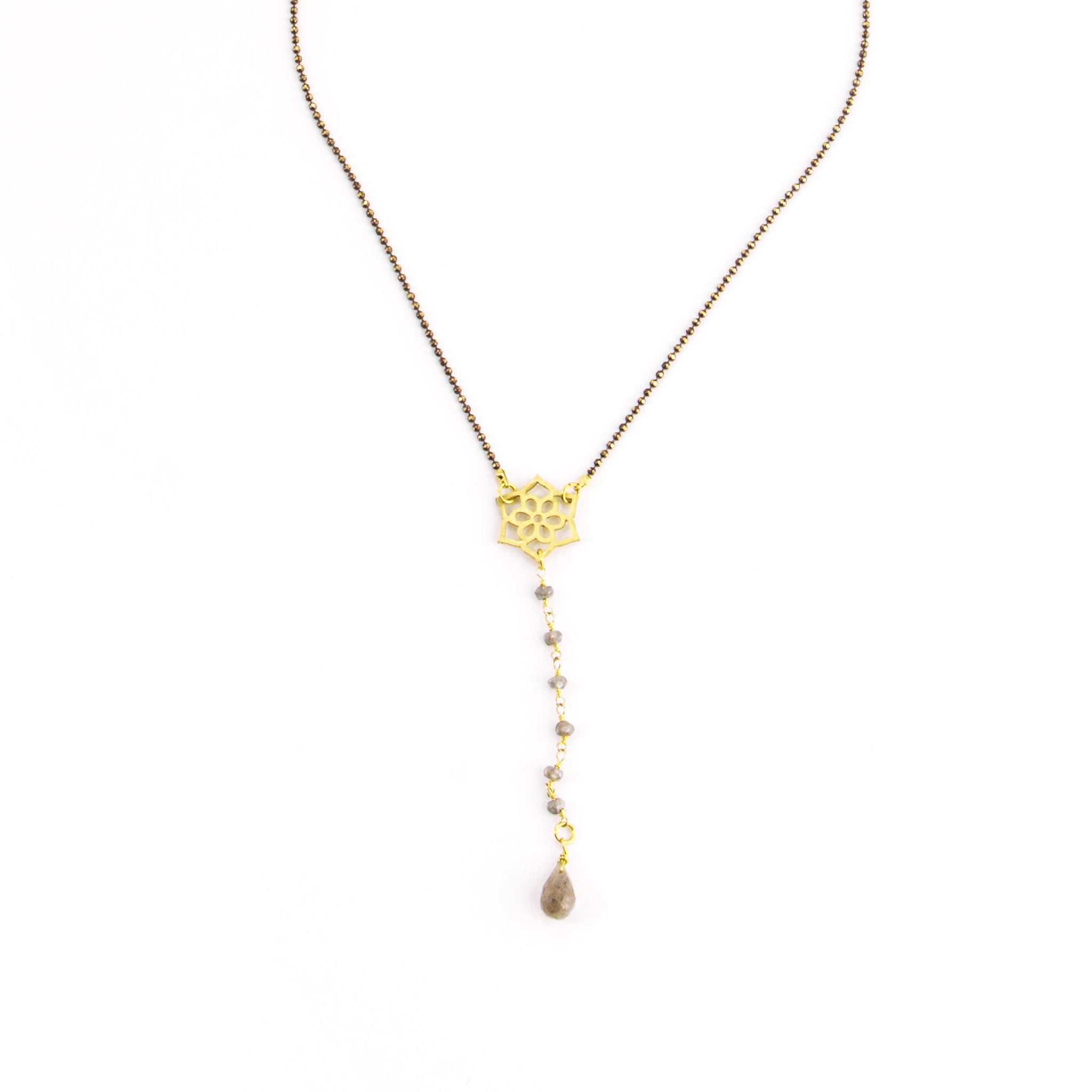 Lotus Drop Y Necklace