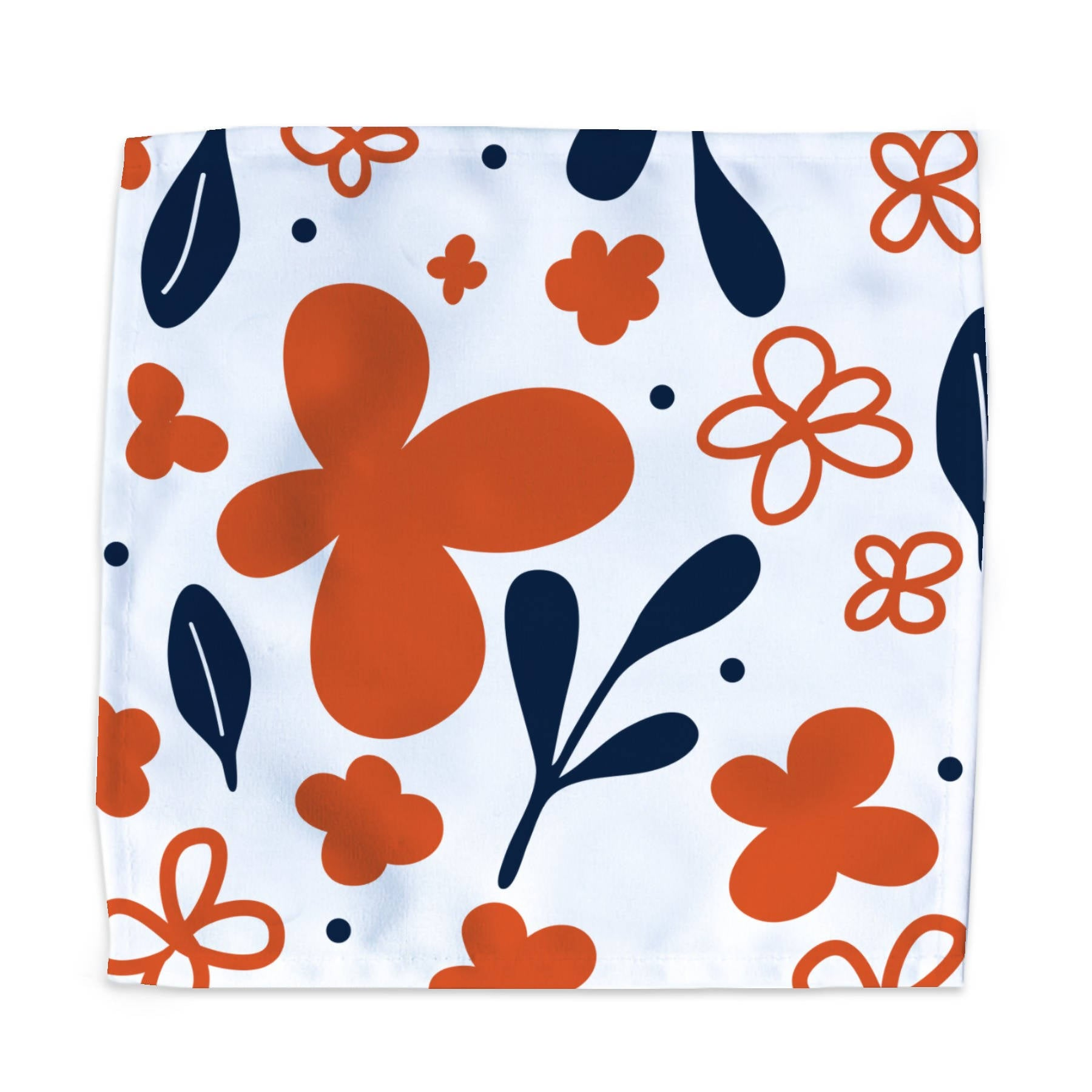 Dinner Napkin - Poppy & Leaves