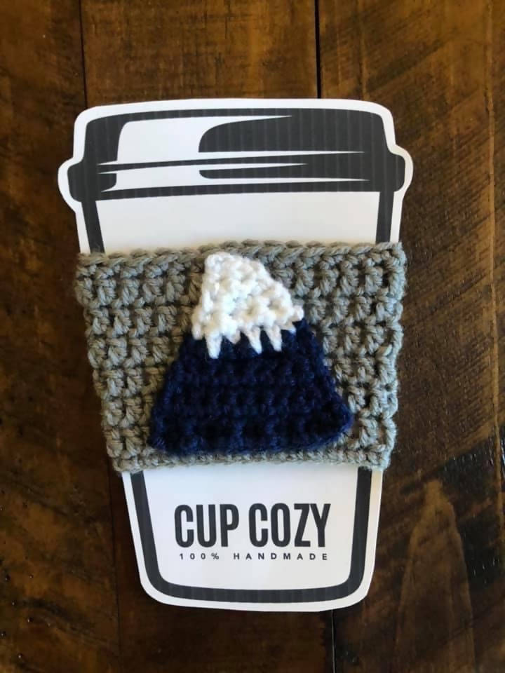 PNW Mountain Coffee Cup Cozy