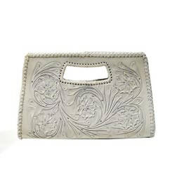 Isabel Large Clutch White