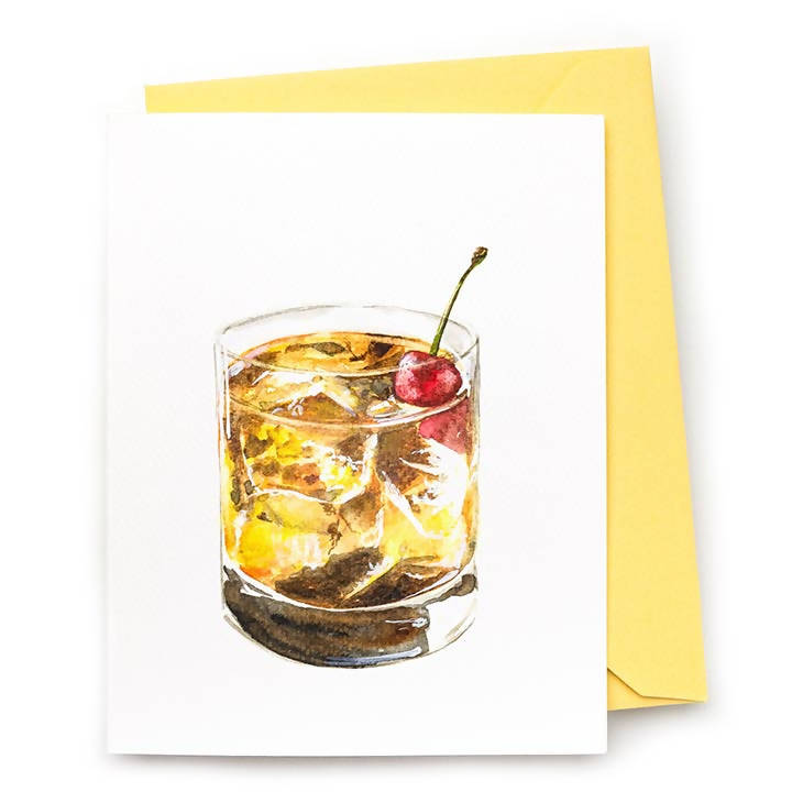 Bourbon Cherry Smash Note Card, Set of 8
