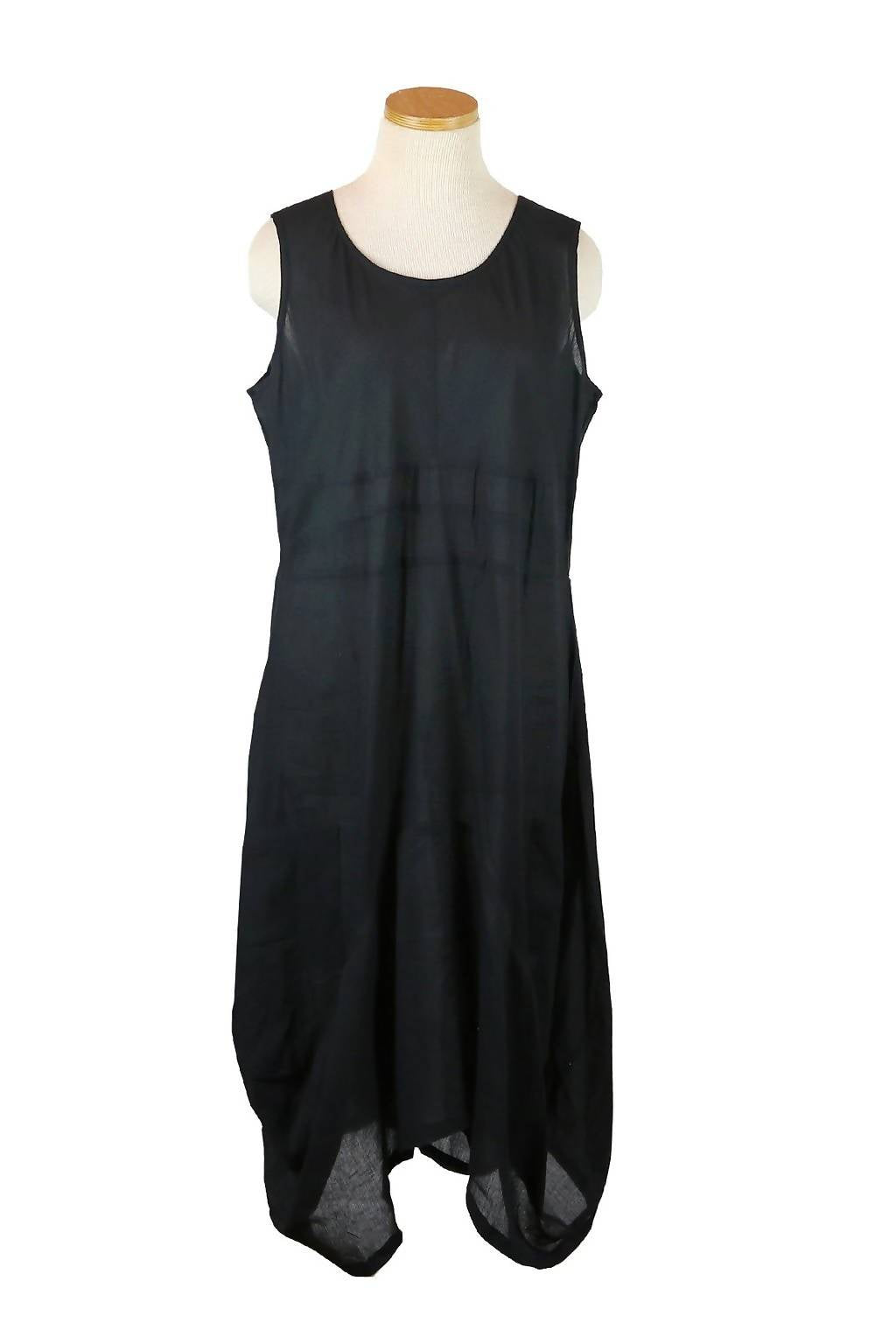 Solid Black Tank Dress