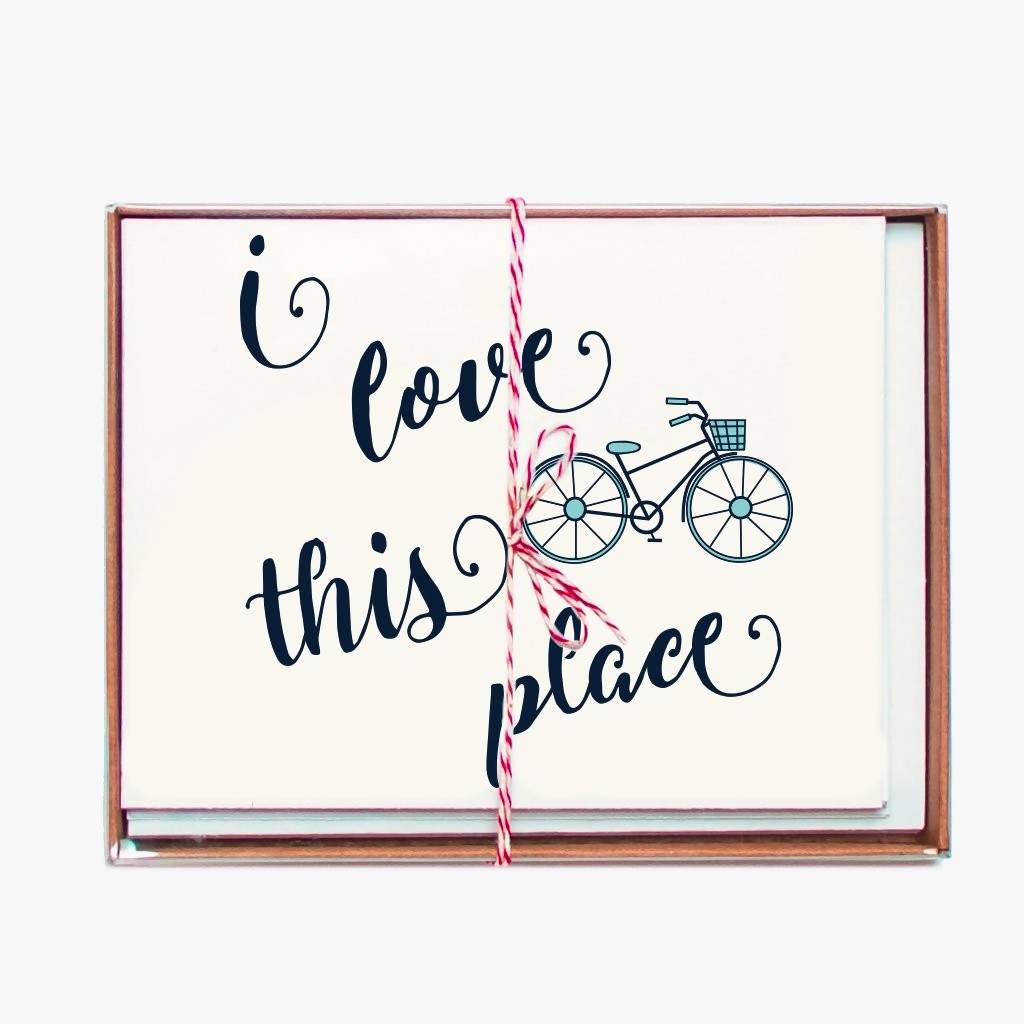 Notecards - Set of I Love Bike