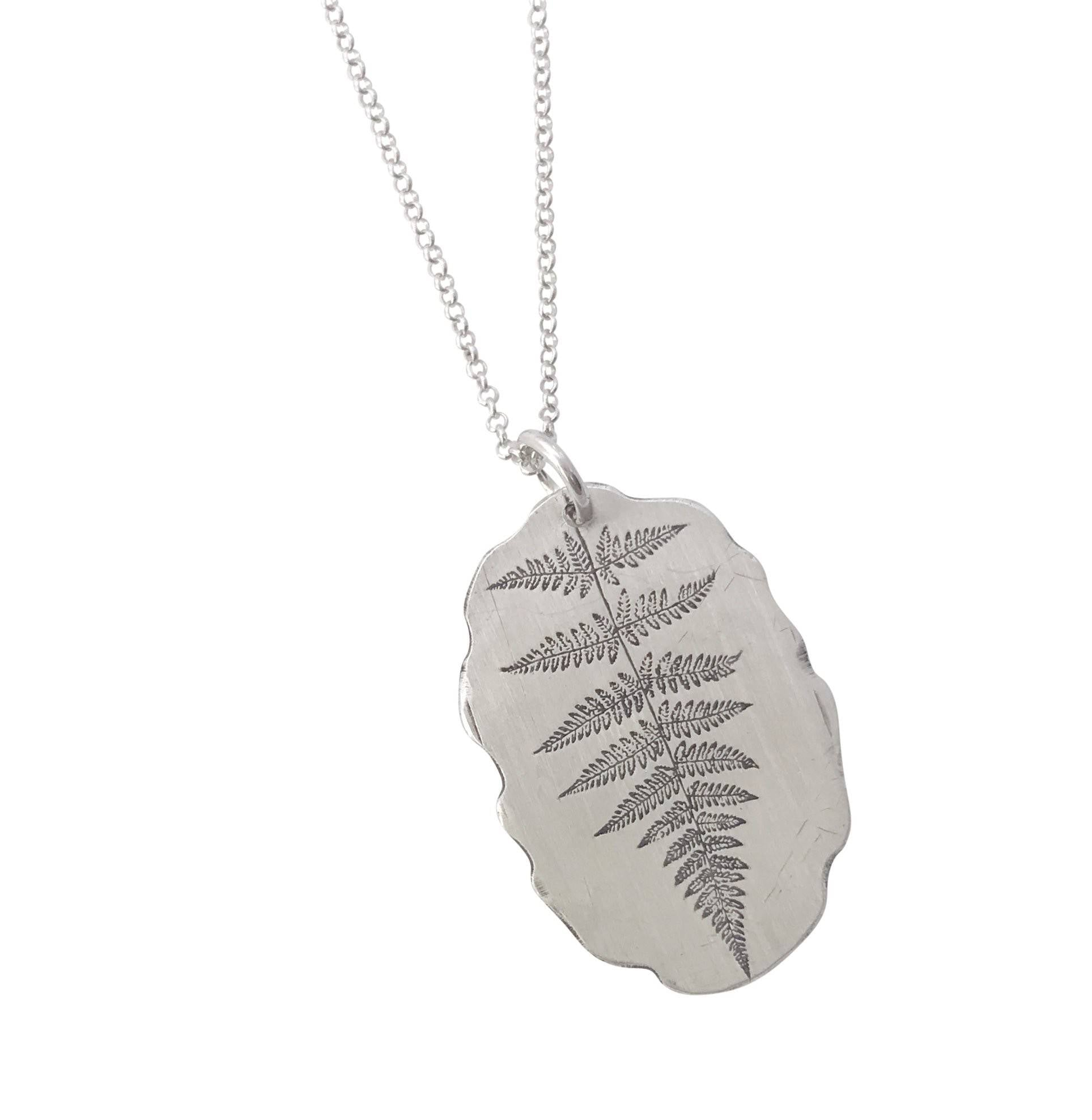 Fern Pendant with John Muir quote