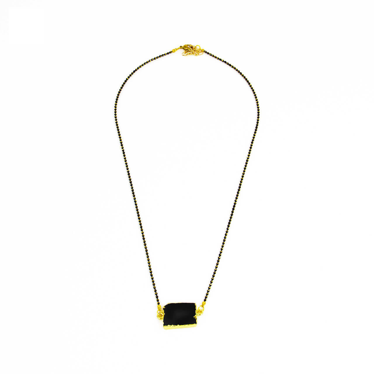 Short Black Tourmaline Necklace