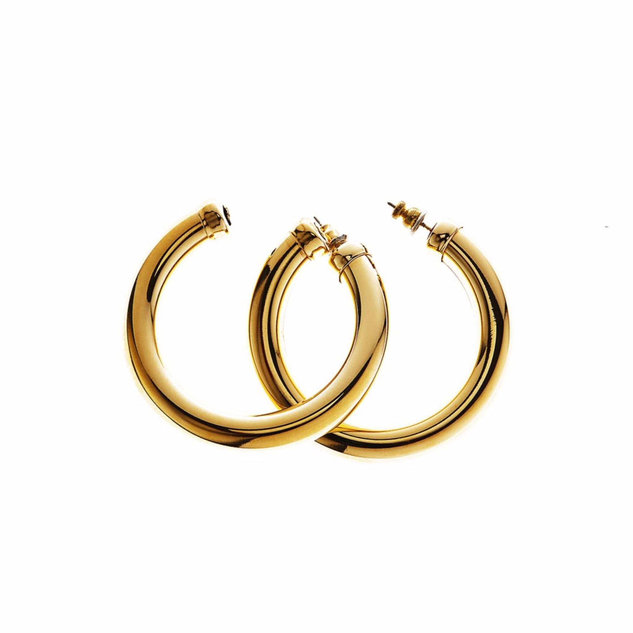 Bare Hoops Earrings