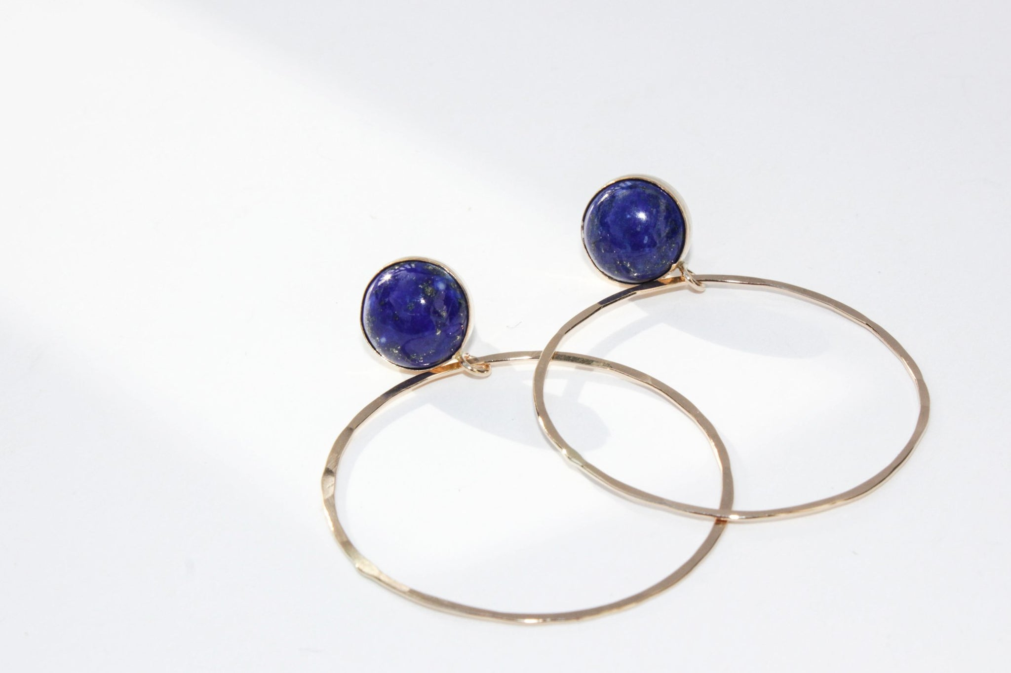 Medium Stud and Hoop Lapis