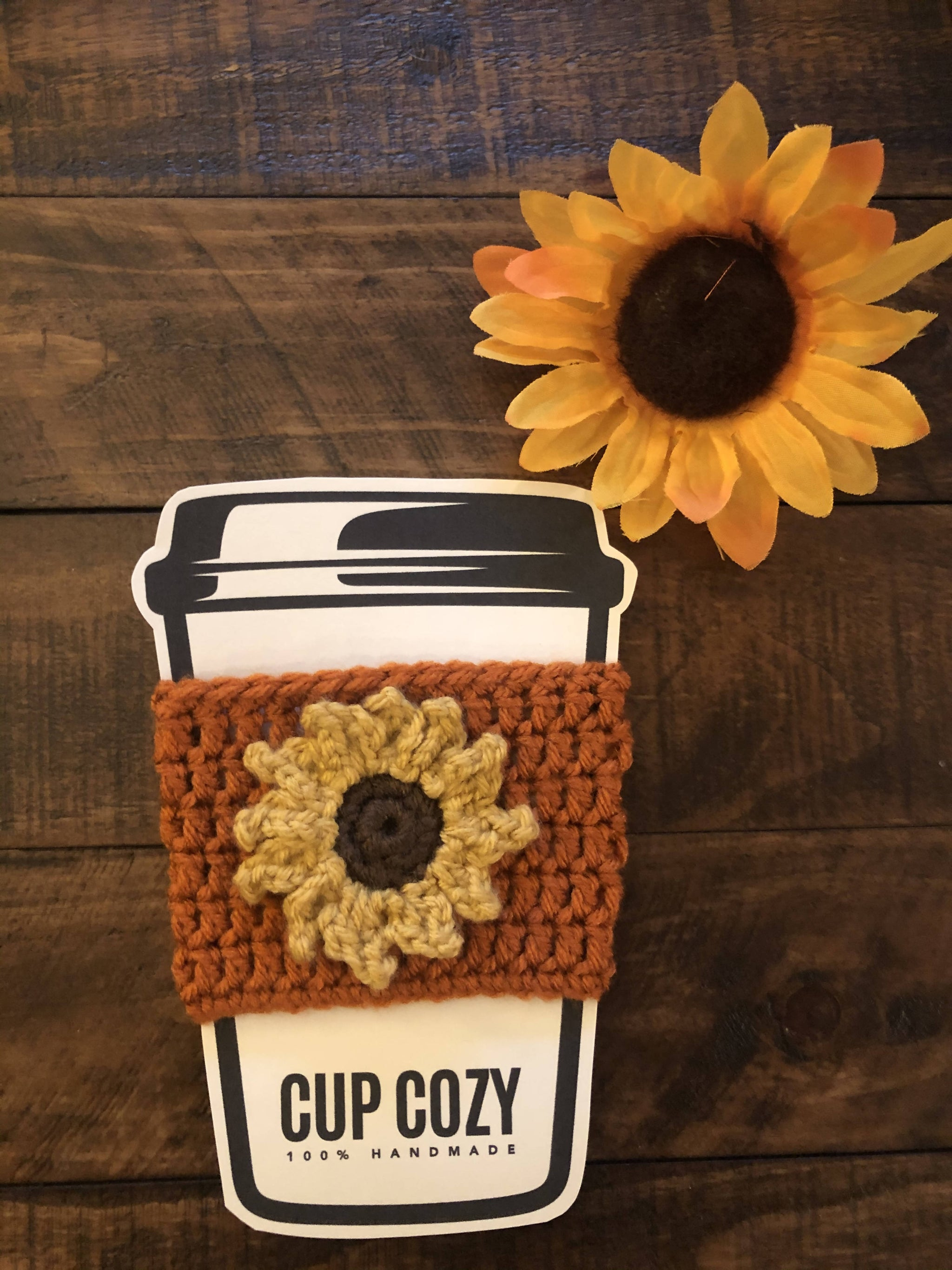 Sunflower Coffee Cup Cozy