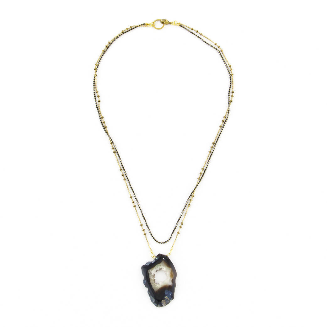 Geode Double Chain Necklace