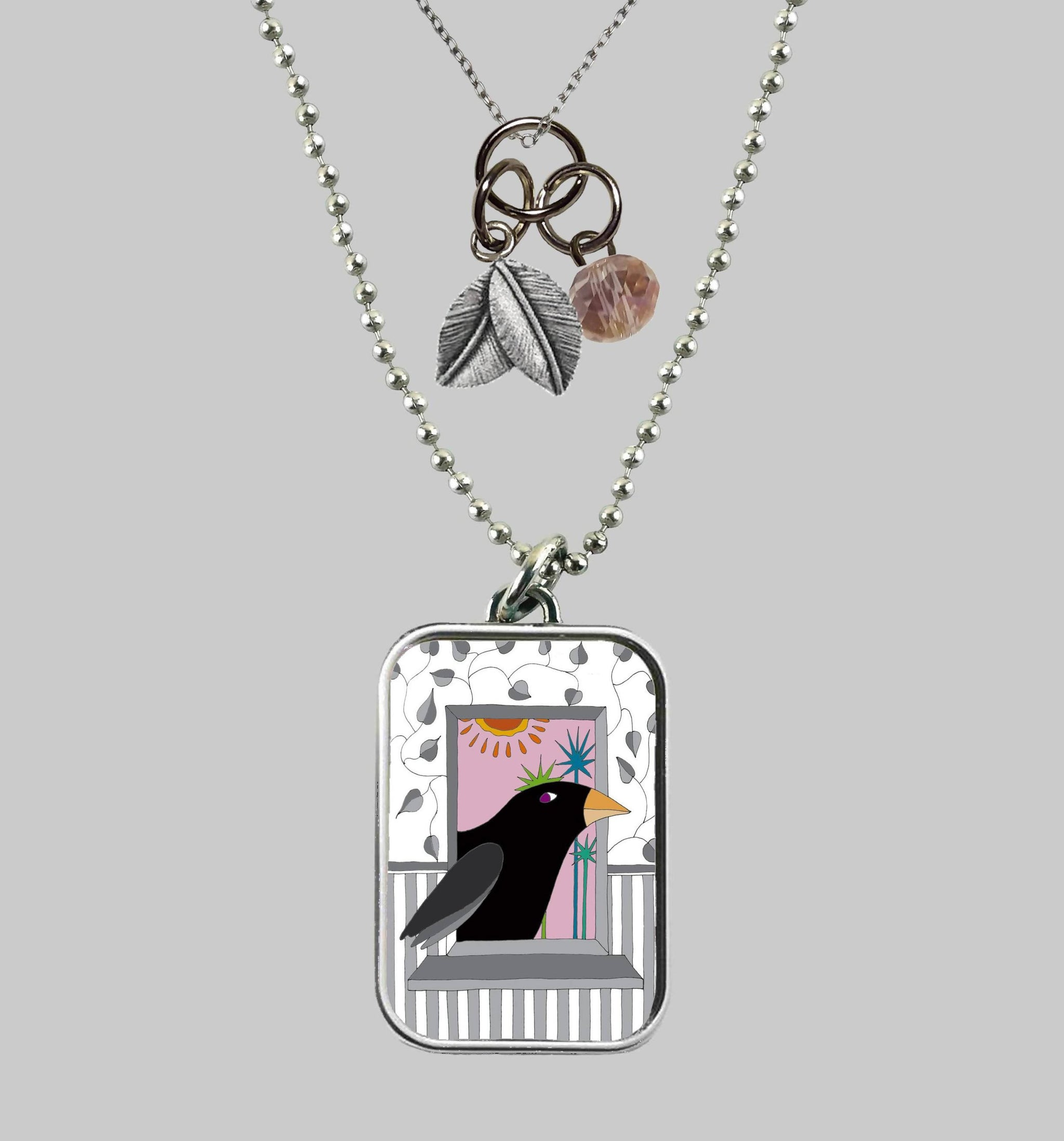 Curious Crow Necklace
