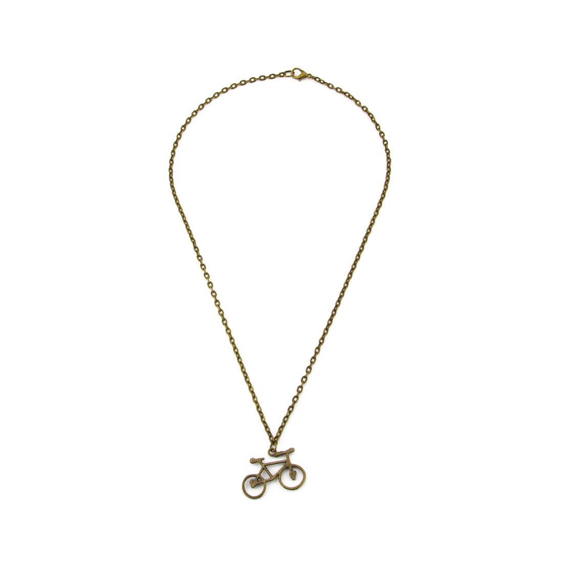 20 Inch Brass Pendant Necklace