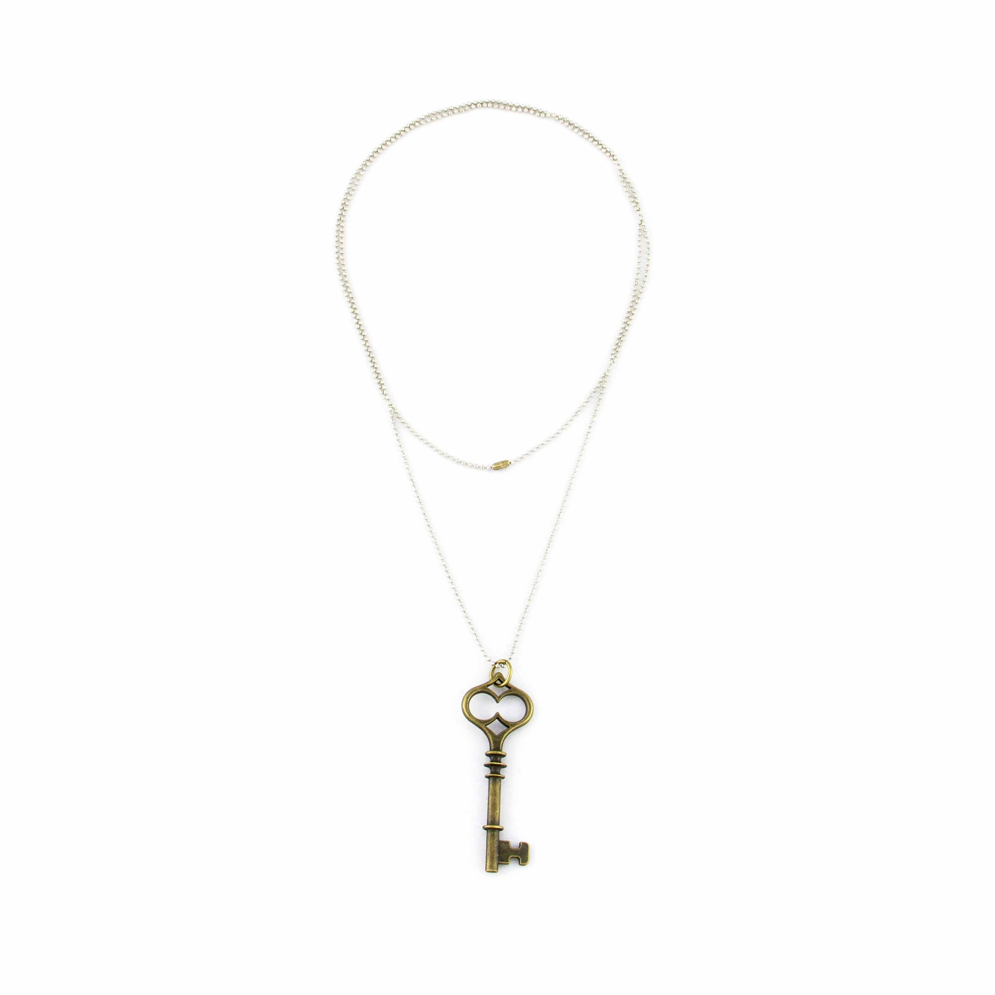 Long Necklace with Key Pendant