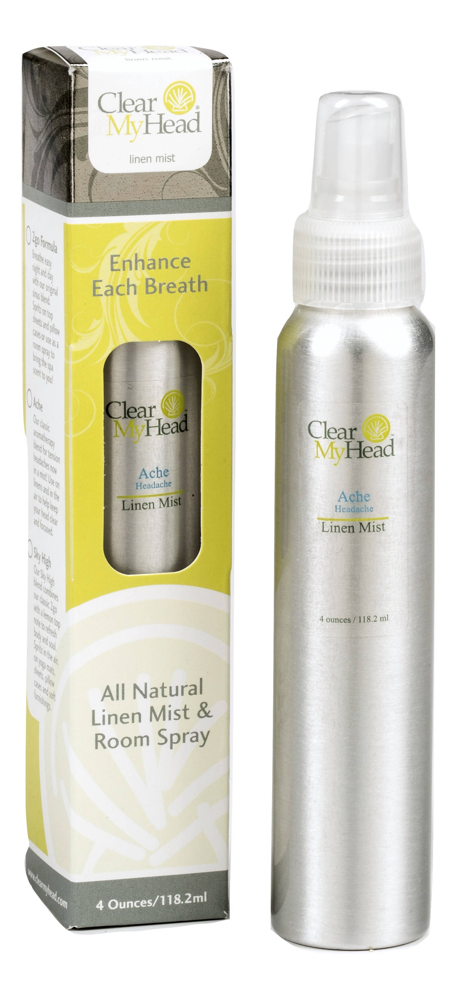 4 oz. Pump, Clear My Head Ache Linen Mist