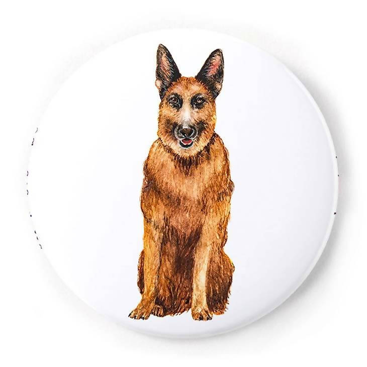 German Shepherd 2 Inch Pin-Back Button