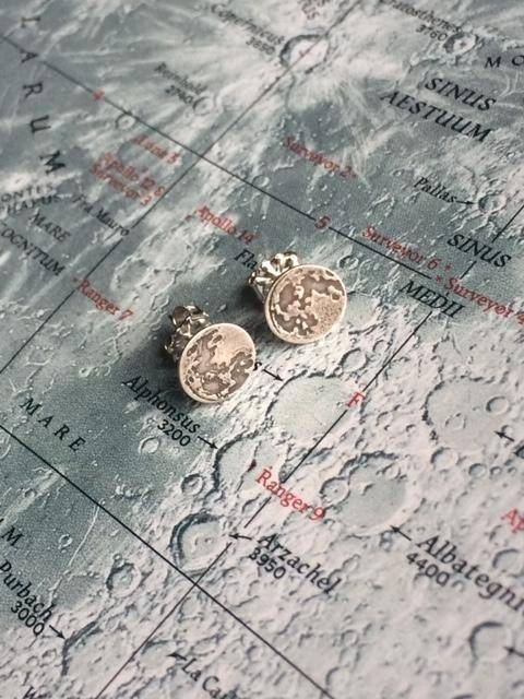 Full Moon Sterling Studs