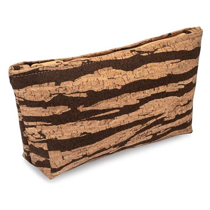 Large Zip Pouch | Bark Cork