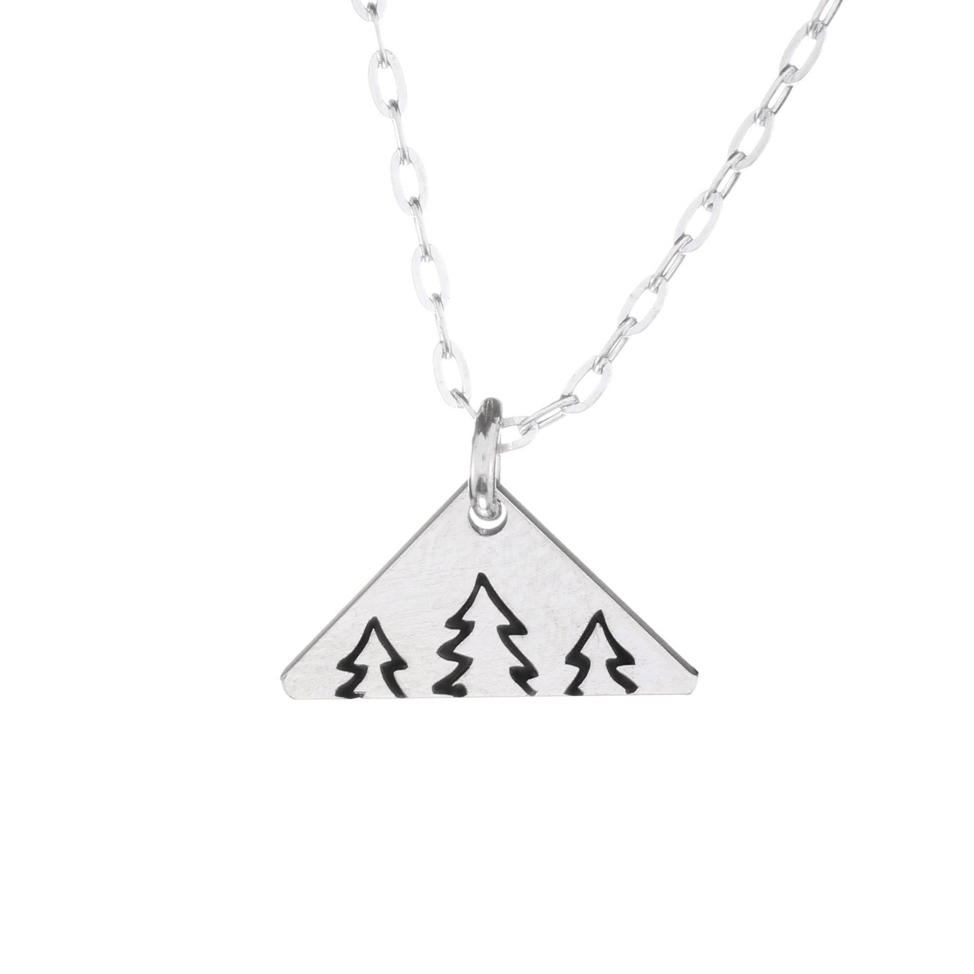 Serene Trees Mini Necklace