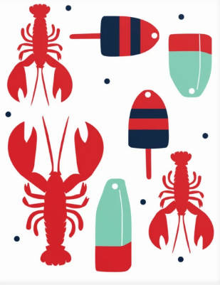 Art Print - Buoys & Lobsters