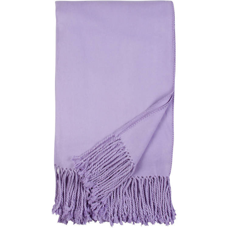 LUXXE FRINGE THROW – LAVENDER