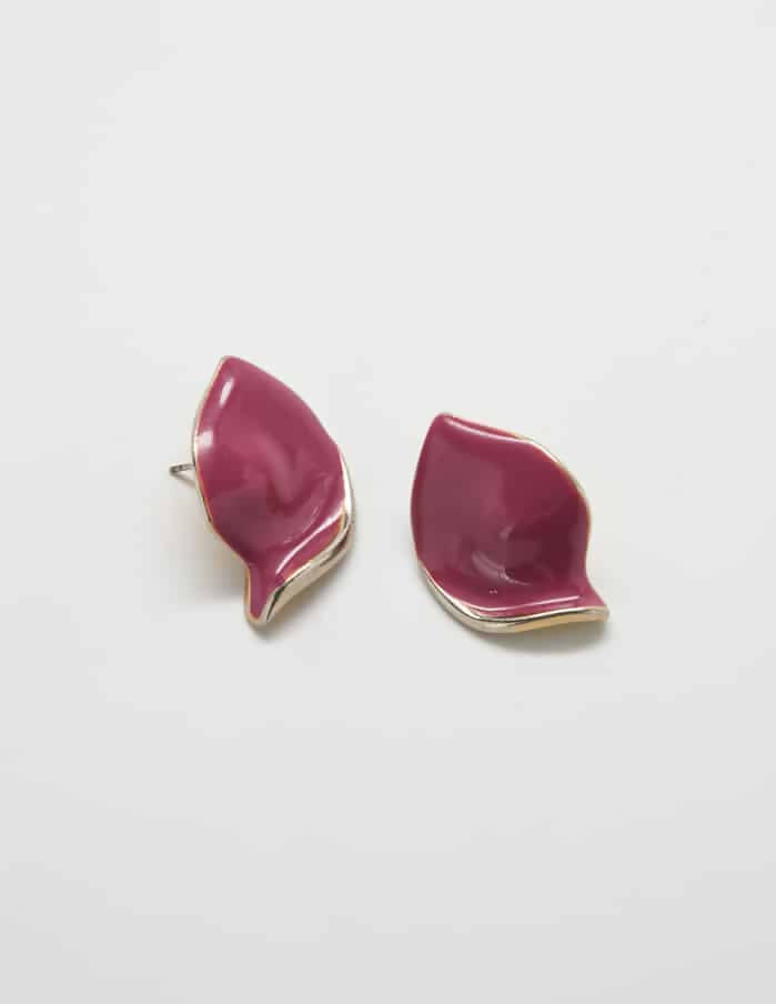 Vintage Purple 'Petal' Earrings