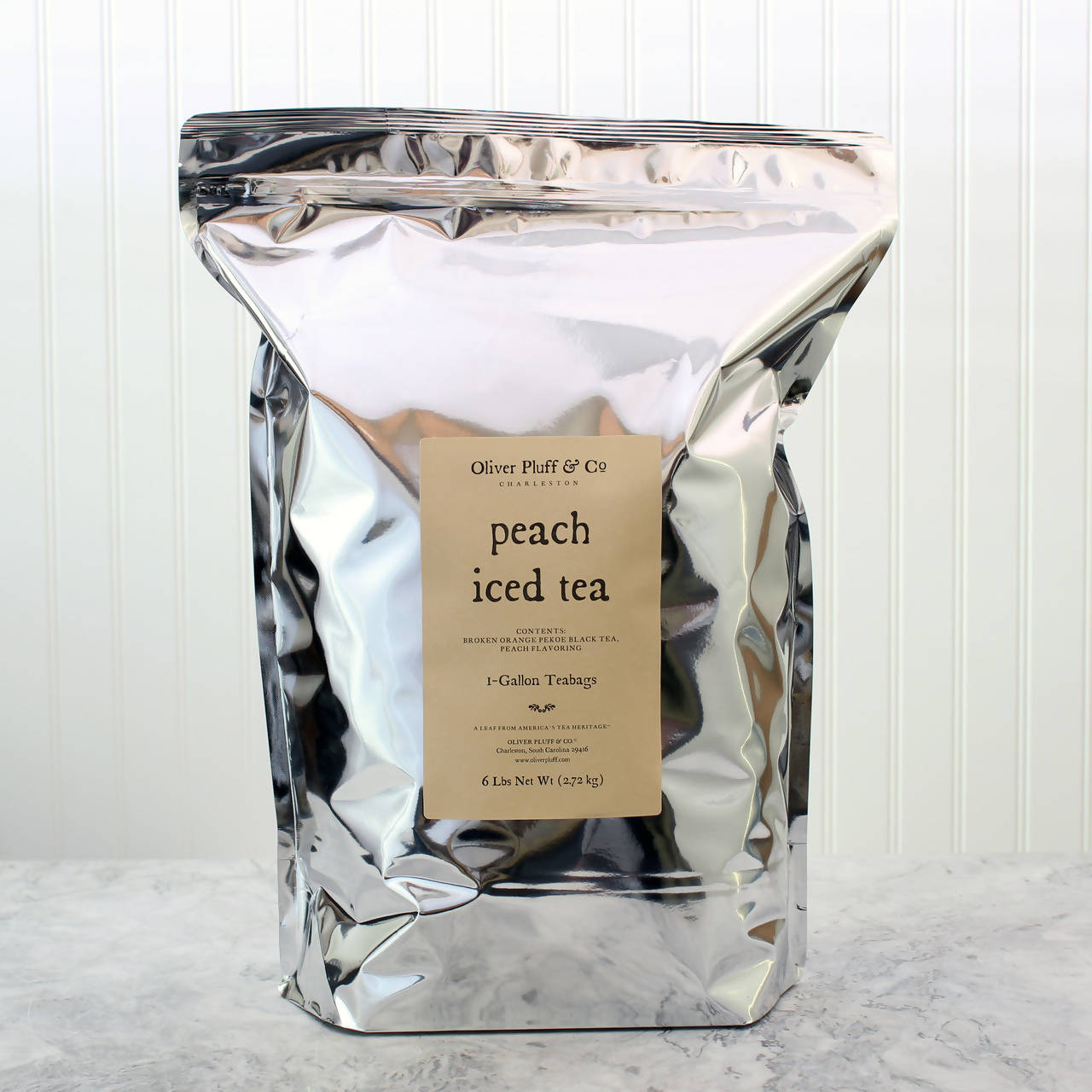 Peach Iced Tea - 96 One-Gallon Teabags