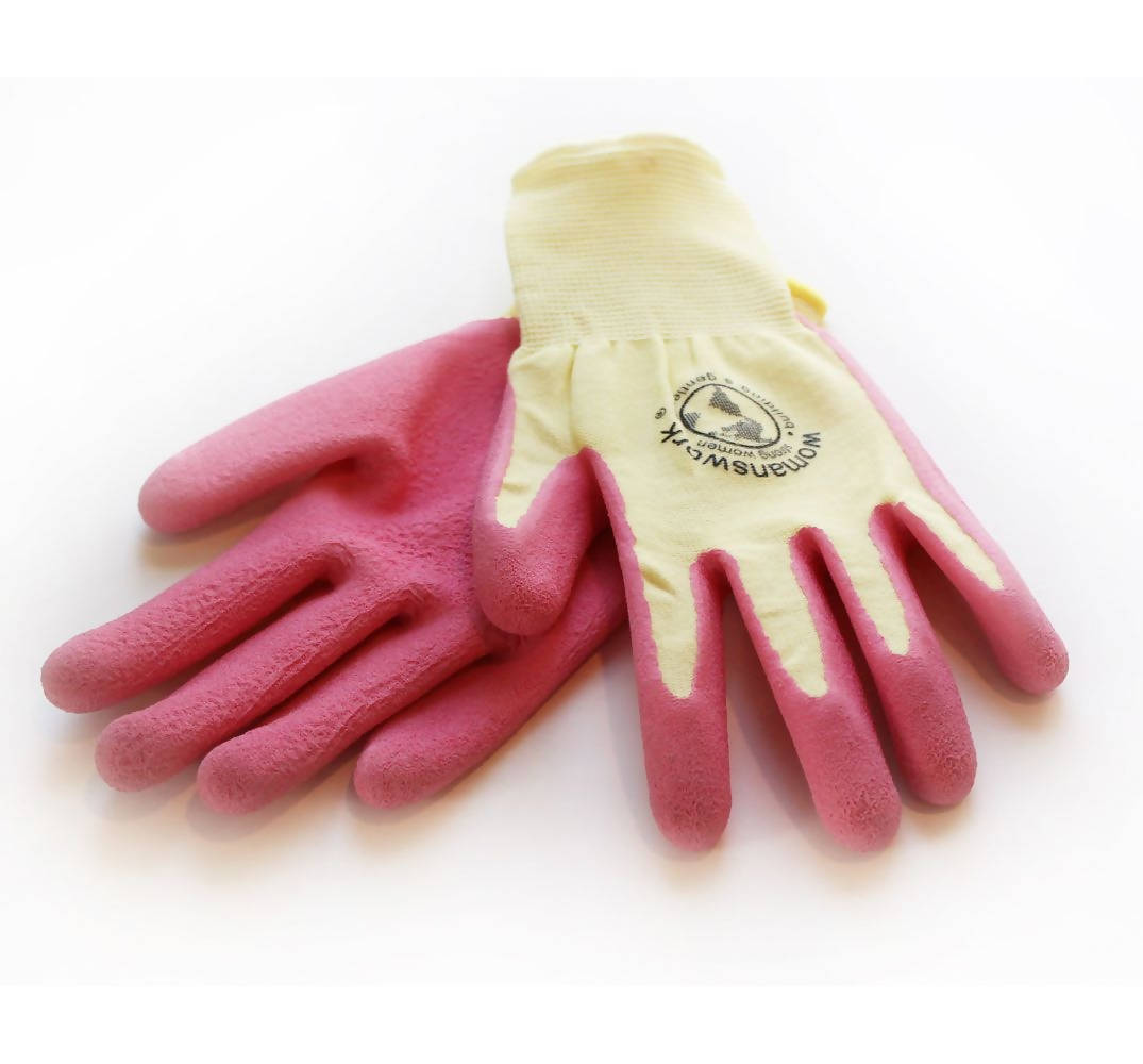 Pink Latex Weeder Glove (with pale yellow shell)