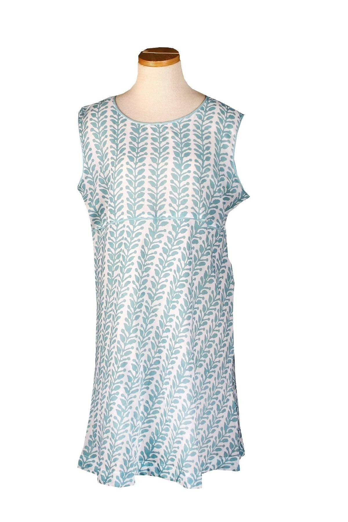 Sleeveless Holi Dress Aqua