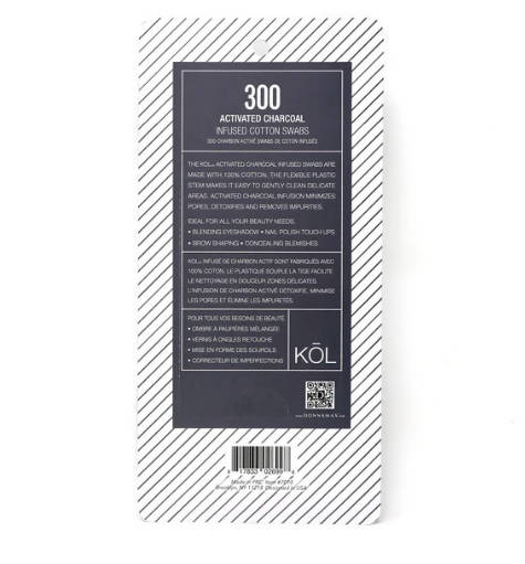 PACK OF 300 CHARCOAL INFUSED COTTON SWABS
