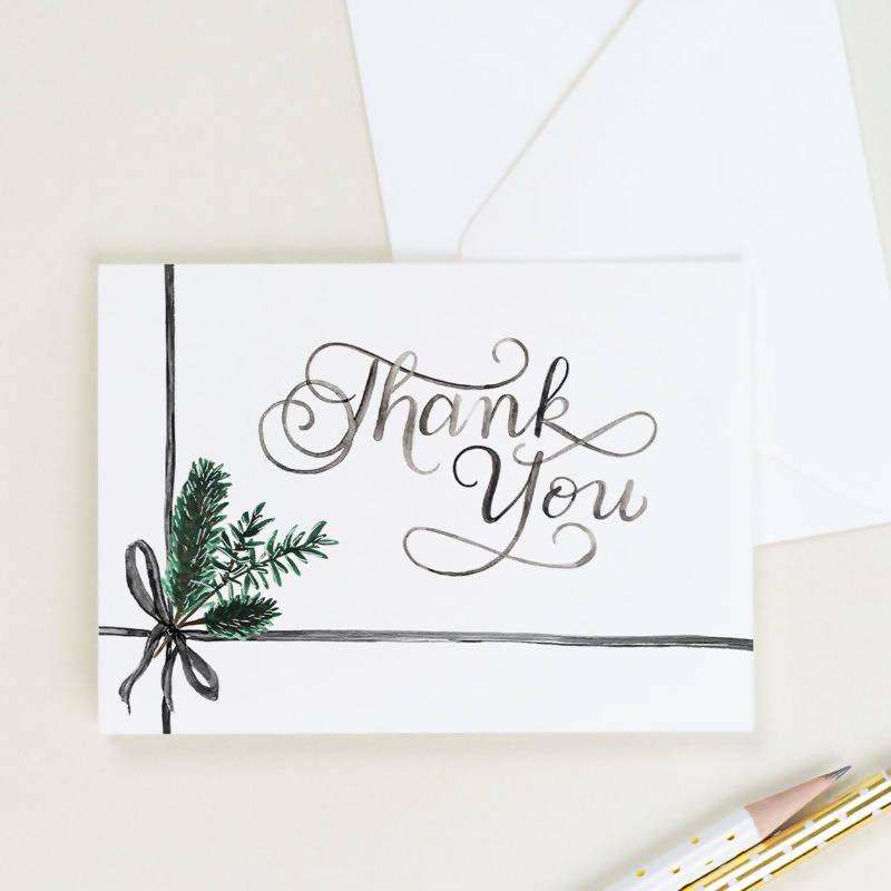 Wintergreen Thank You Card, Set of 8