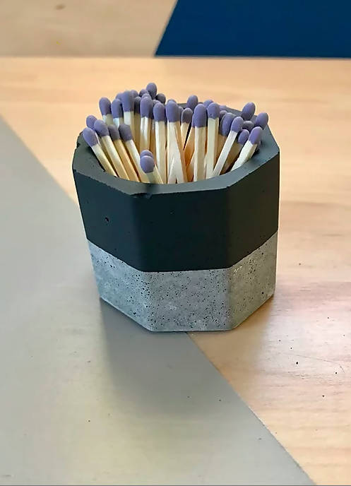 Painted Match Stick Holder w/ Striker