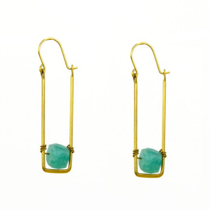 Floating Sugar Cube Earring