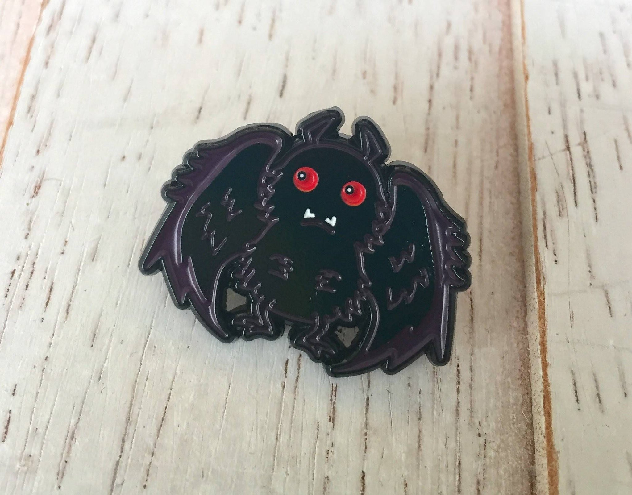 Mothman Soft Enamel Pin 1""