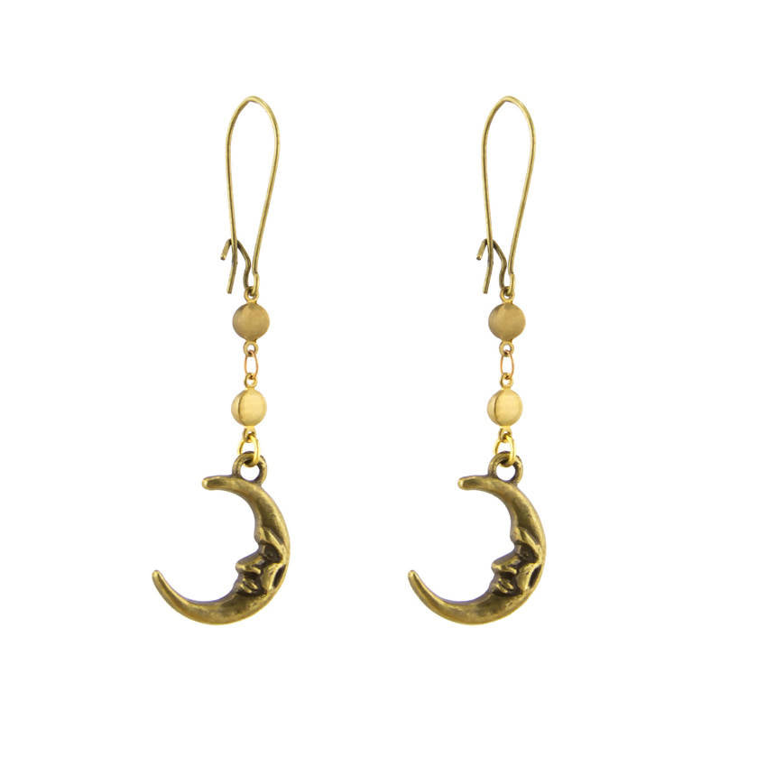 Face of the Moon Earrings