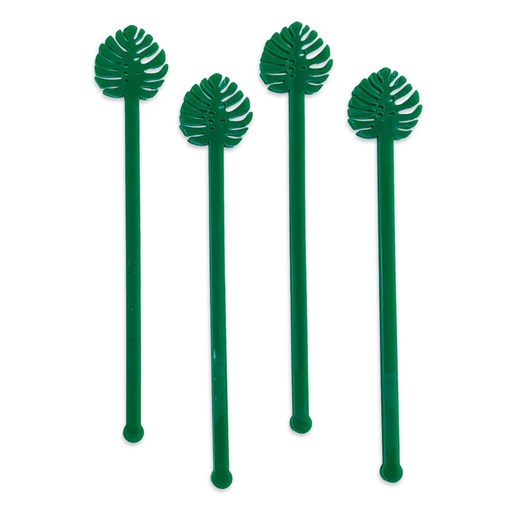 Swizzle Sticks - Palms & Plants Set of 4