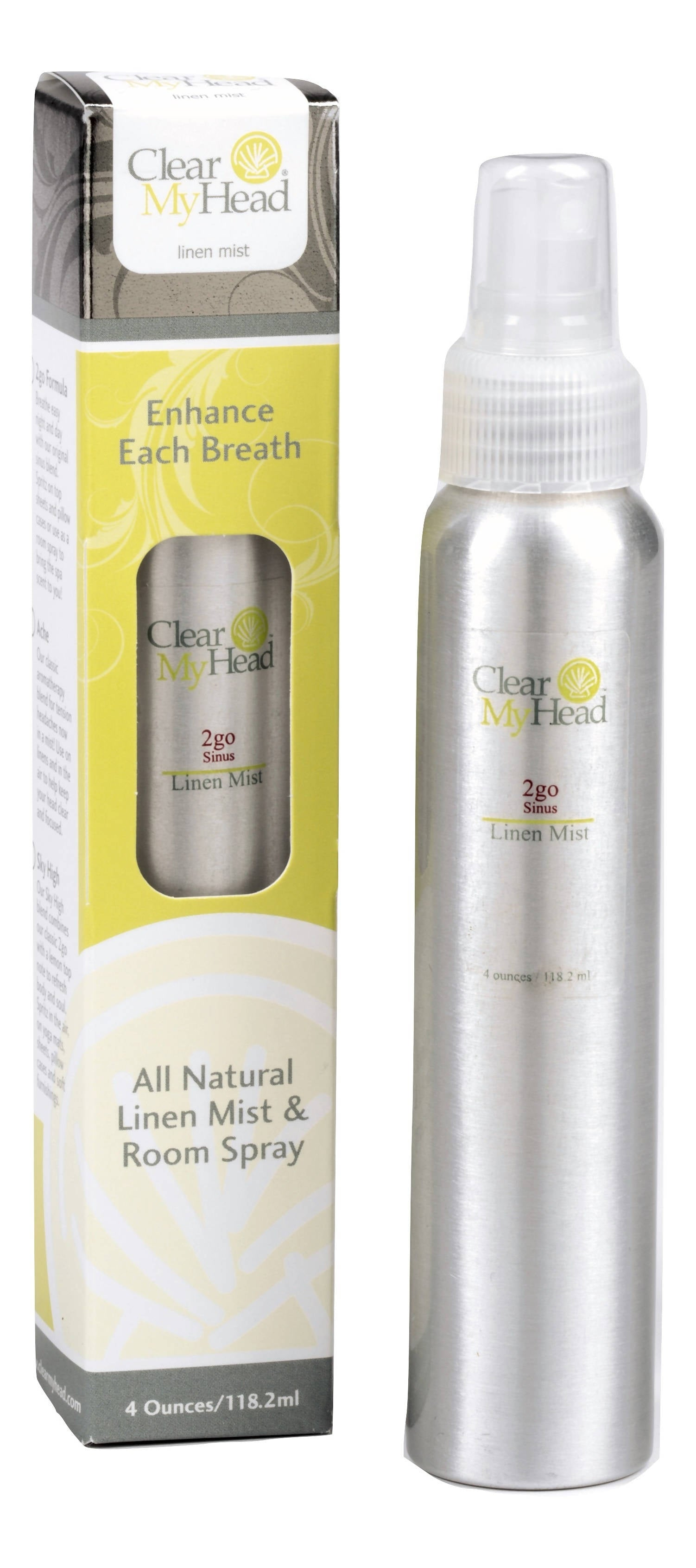 4 oz. Pump, Clear My Head Linen Mist (Original Scent)