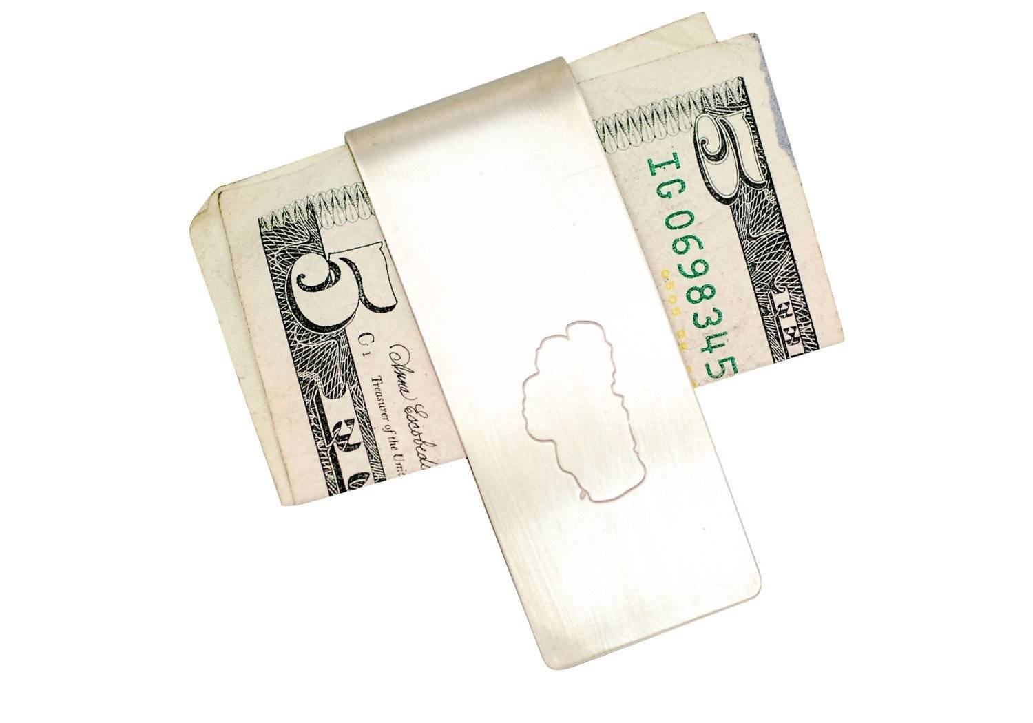 CA or Tahoe Roller Printed Money clips
