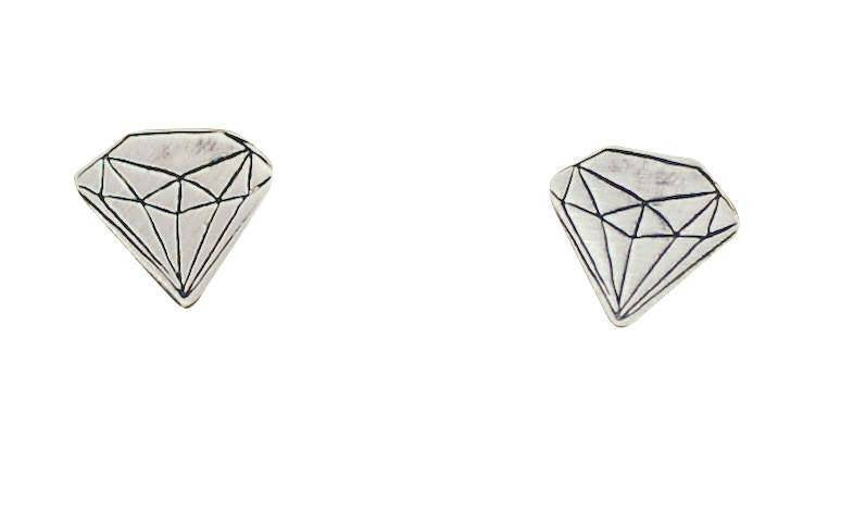 Faux Diamond and Quartz Studs